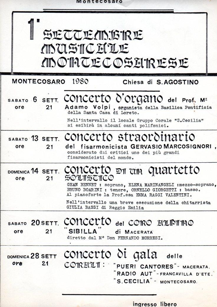 1° set. mus locandina 1980
