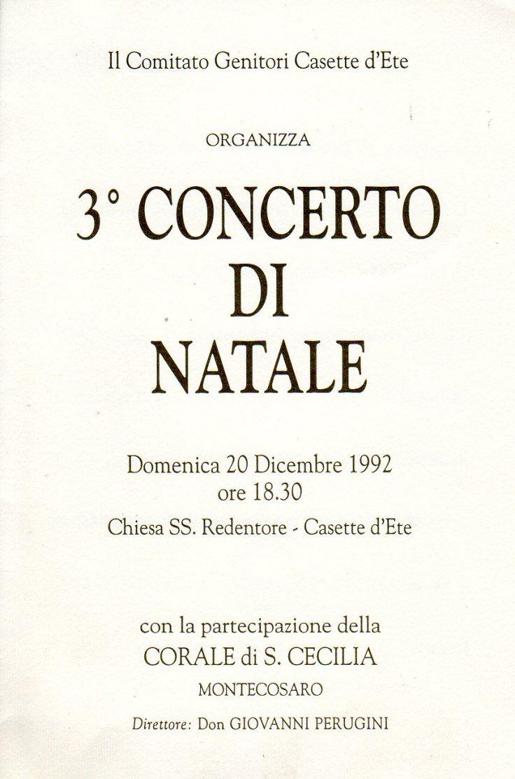 concerto di natale 92 casette d'ete