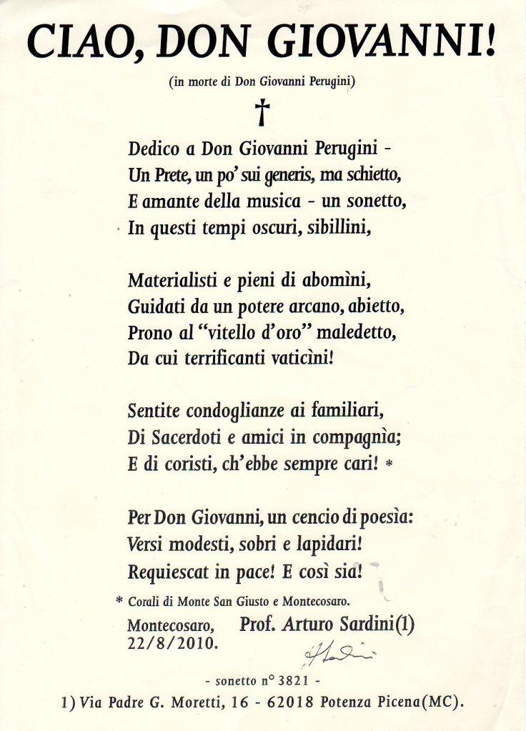poesia in morte di d.giovanni 22-08-10