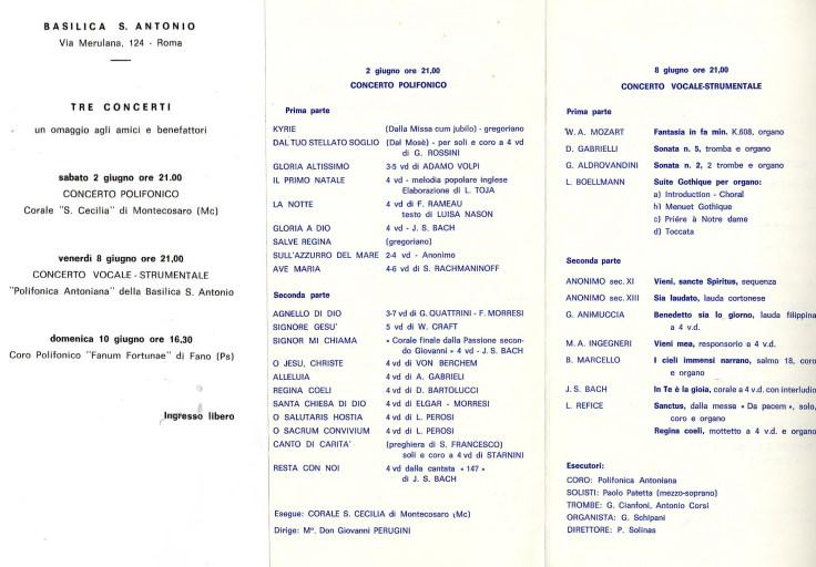tre concerti roma 84